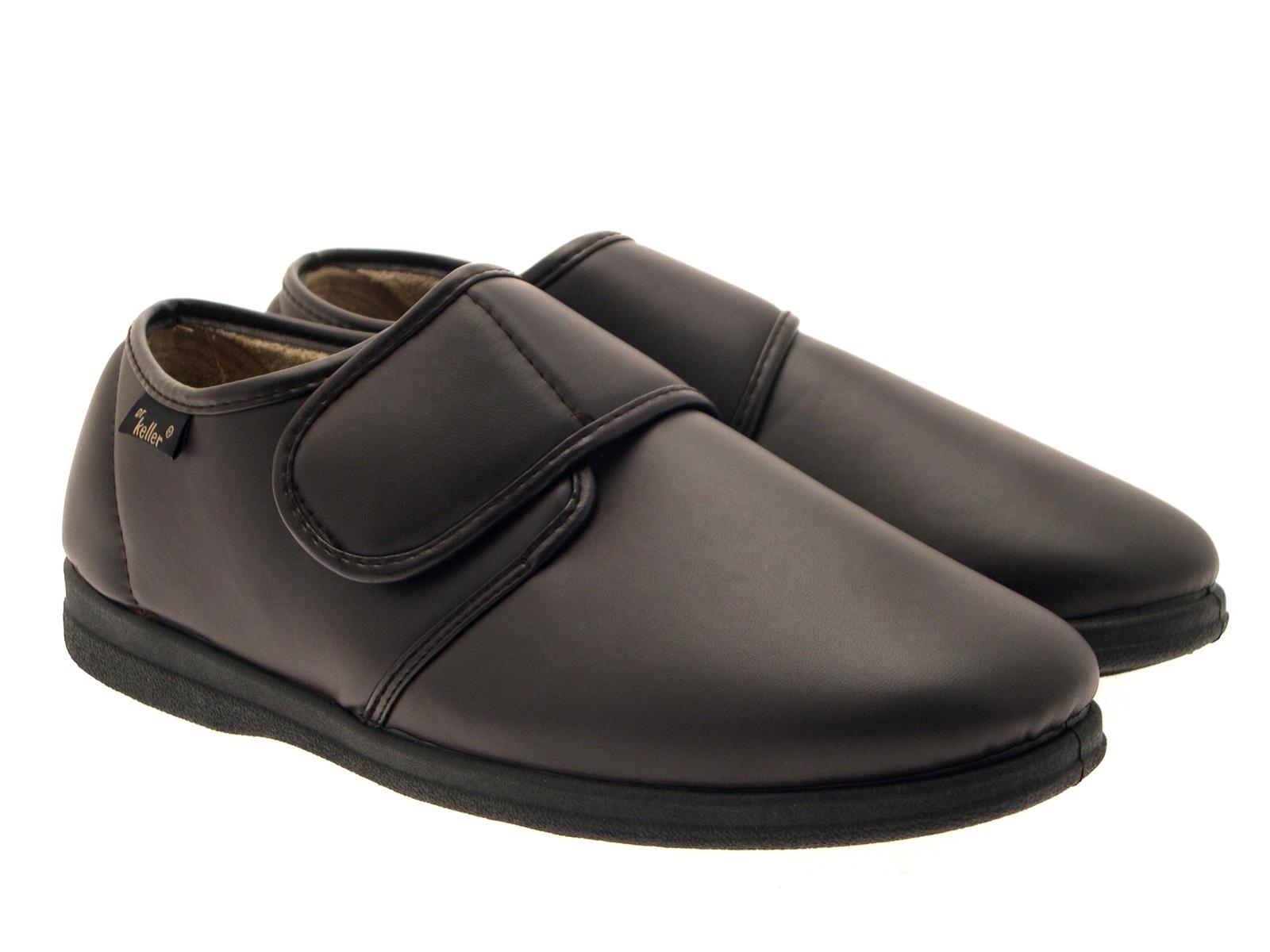 mens luxury fleece lined dr keller slippers faux leather