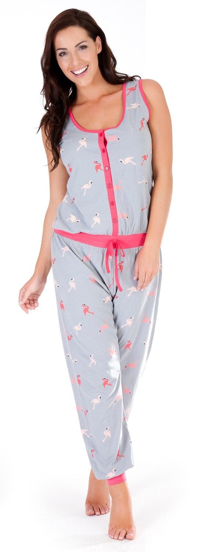 Womens Sleeveless All In One Pyjamas Jumpsuits Ladies Nightwear ...