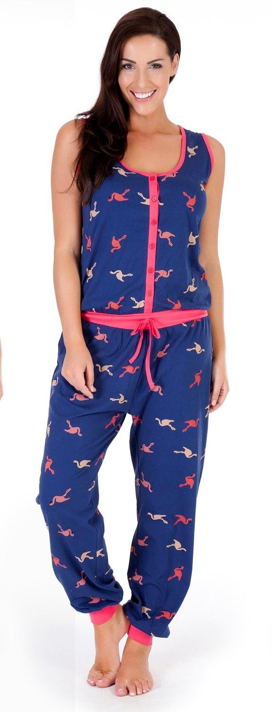 c0482b70918e Womens Sleeveless All In One Pyjamas Jumpsuits Ladies Nightwear ...