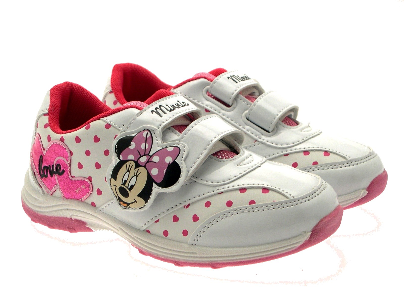 4890f729c4a Girls Disney Minnie Mouse Trainers Flat Pumps Childrens Shoes Size ...