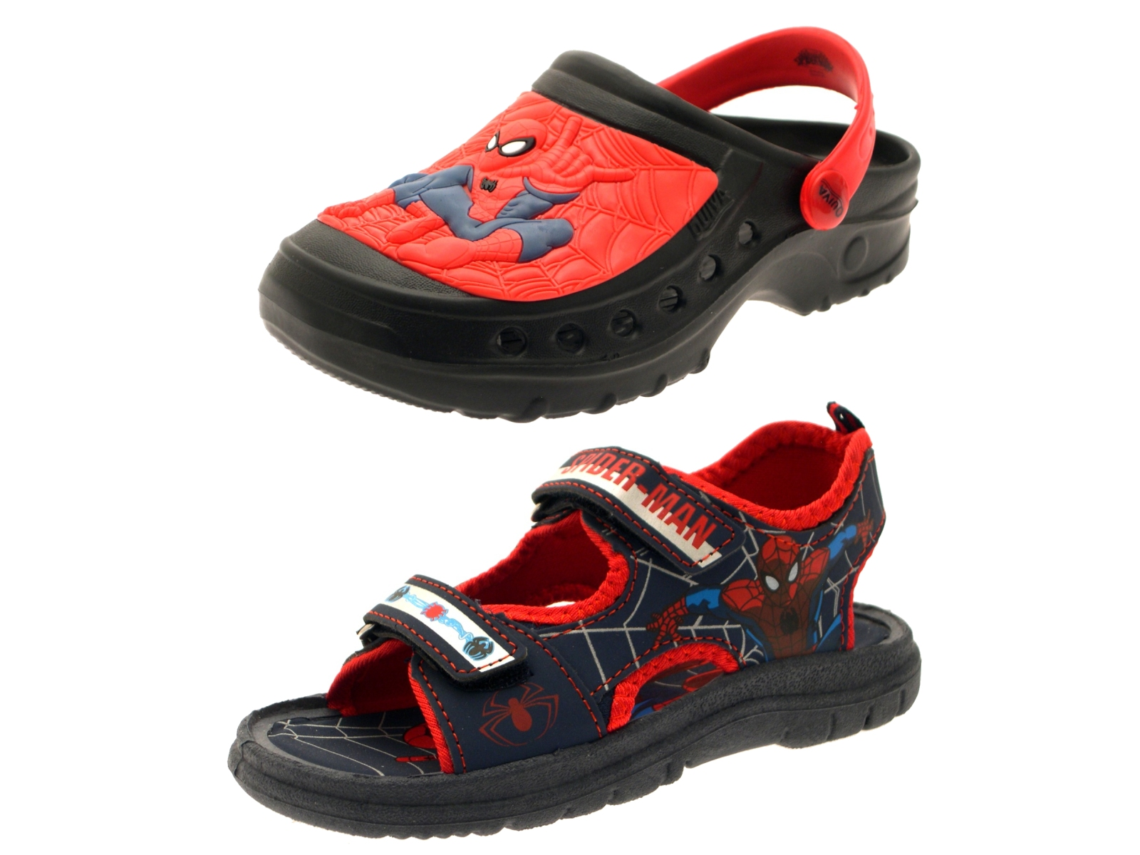 Kids Boys Spiderman Summer Sandals Slip On Beach Clogs