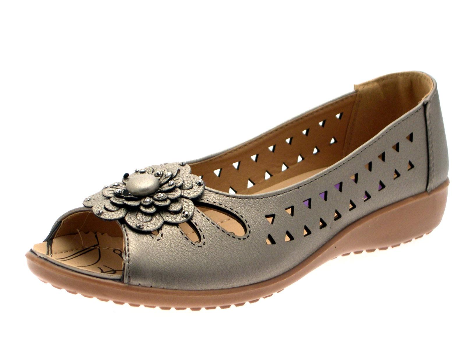 Flower Trim Ladies Shoes Uk