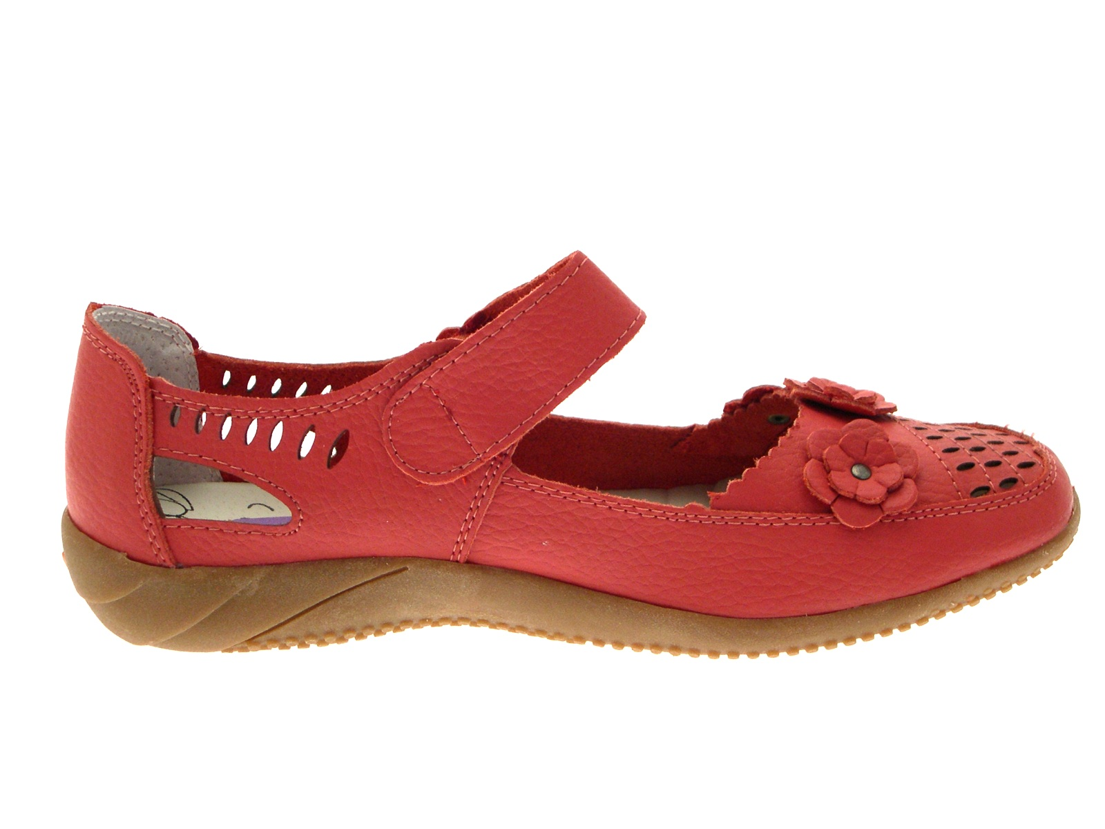 Womens Leather Casual Comfort Mary Jane Flat Work Shoes ...