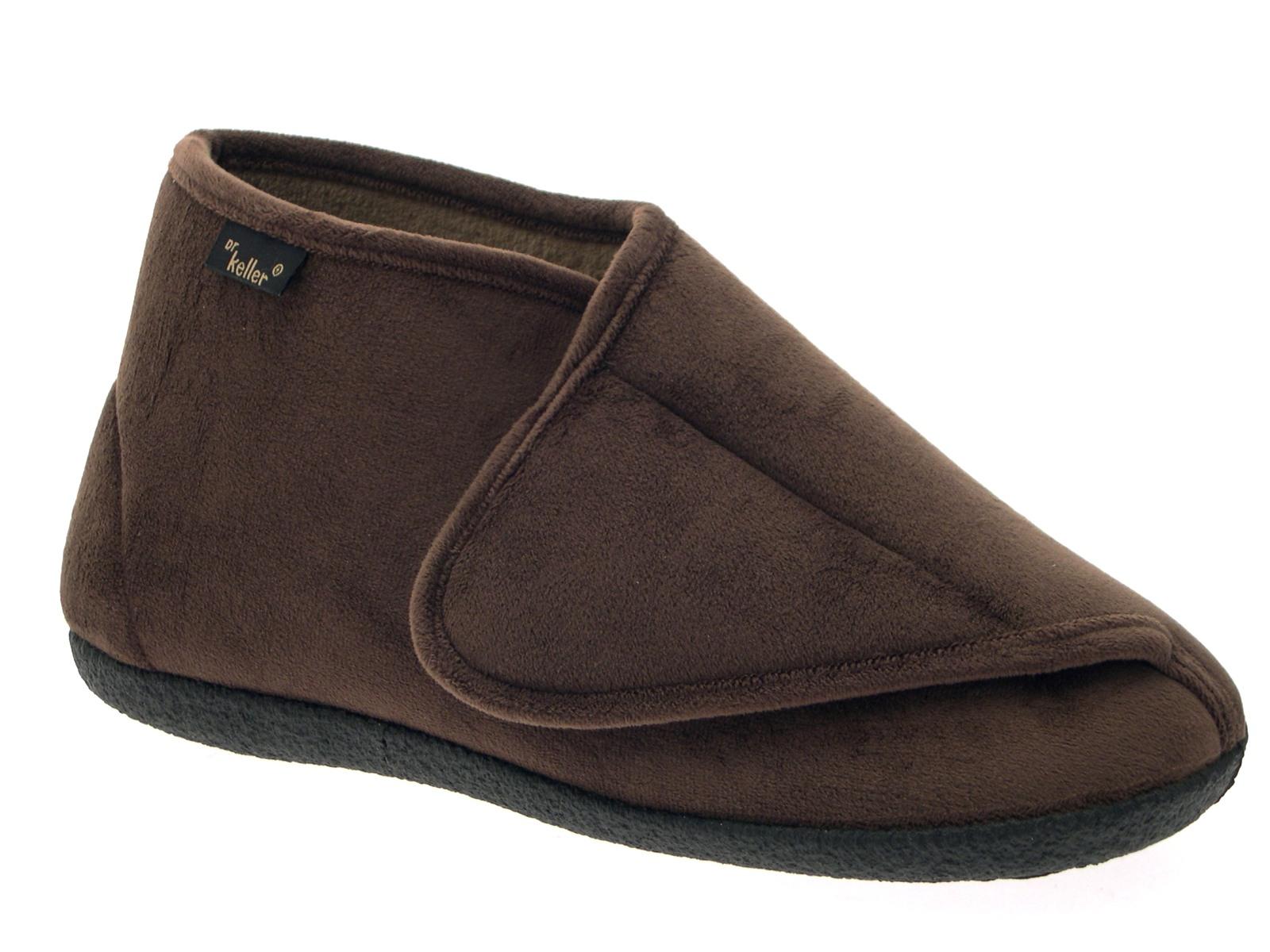 Mens Diabetic Orthopaedic Comfort Slippers Boot Wide Cushioned Shoe Size UK 6