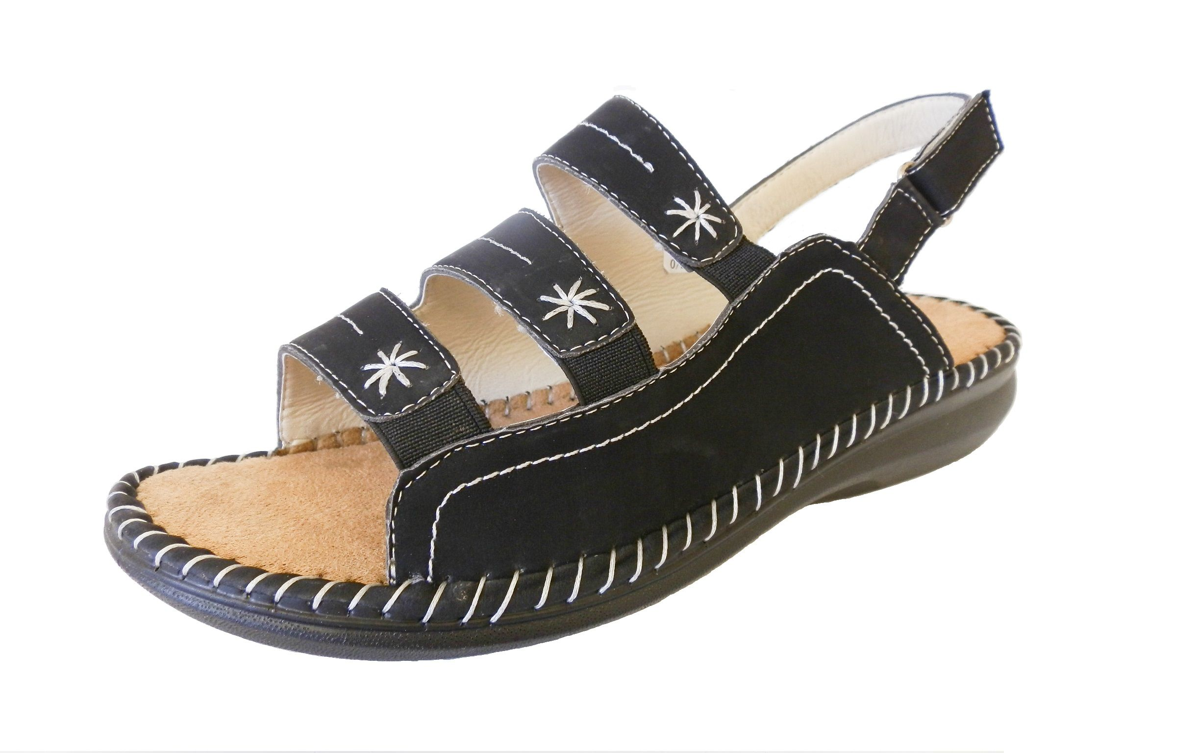 Sandals shoes comfortable - Womens Low Wedge Elasticated Comfort Sandals Cushioned Ladies Shoes Size Uk 4 8