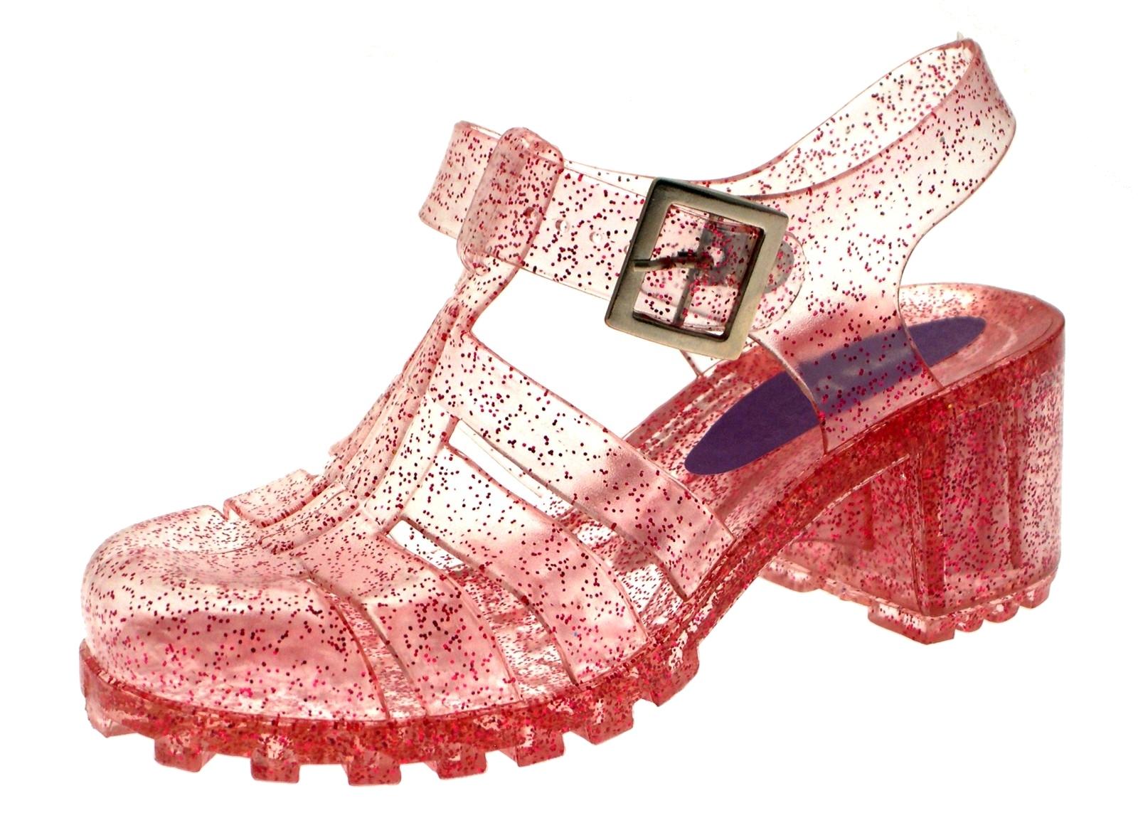 Kids Girls Jelly Shoes Summer Cut Out Heel Sandals Jellies