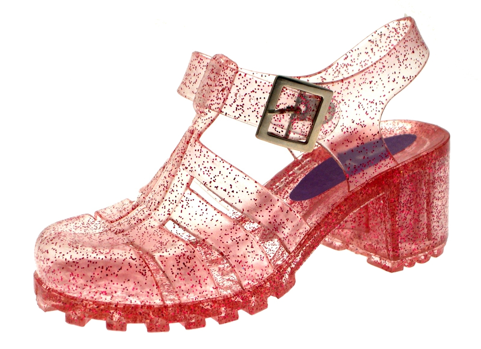 Glitter jelly shoes from the 80s