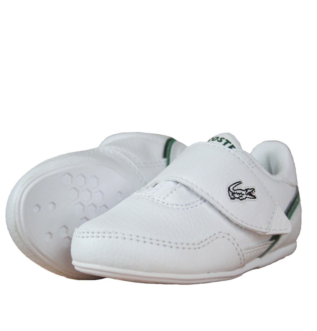Lacoste Lisse NDK SPI Infants Strap Trainer SS12 White/Green Enlarged Preview