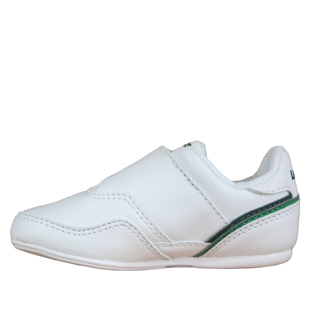 Lacoste-Lisse-NDK-SPI-Infants-Strap-Trainer-SS12-White-Green