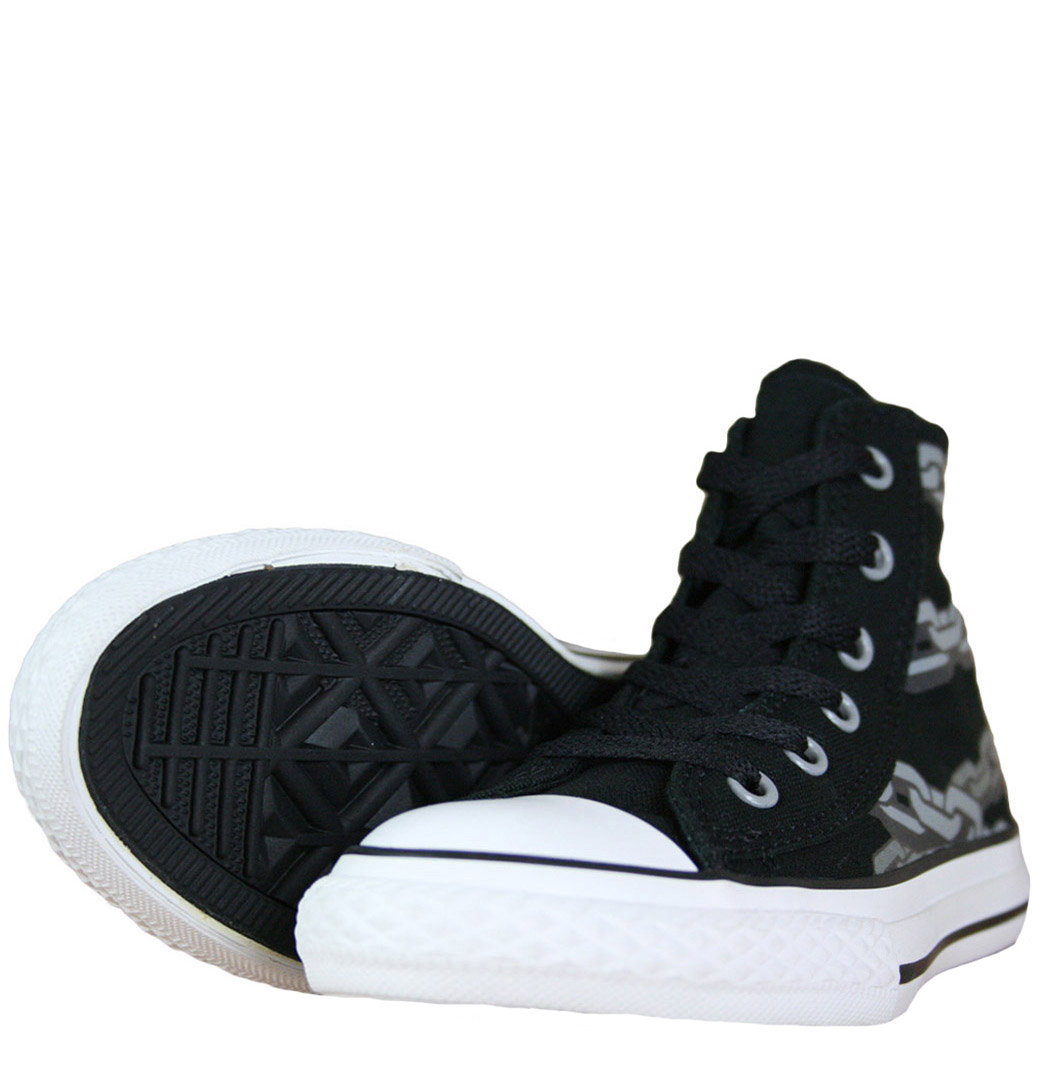 Converse CT All Star 628076C Hi Spec Youth/Junior Trainer Black/Drizzle Enlarged Preview