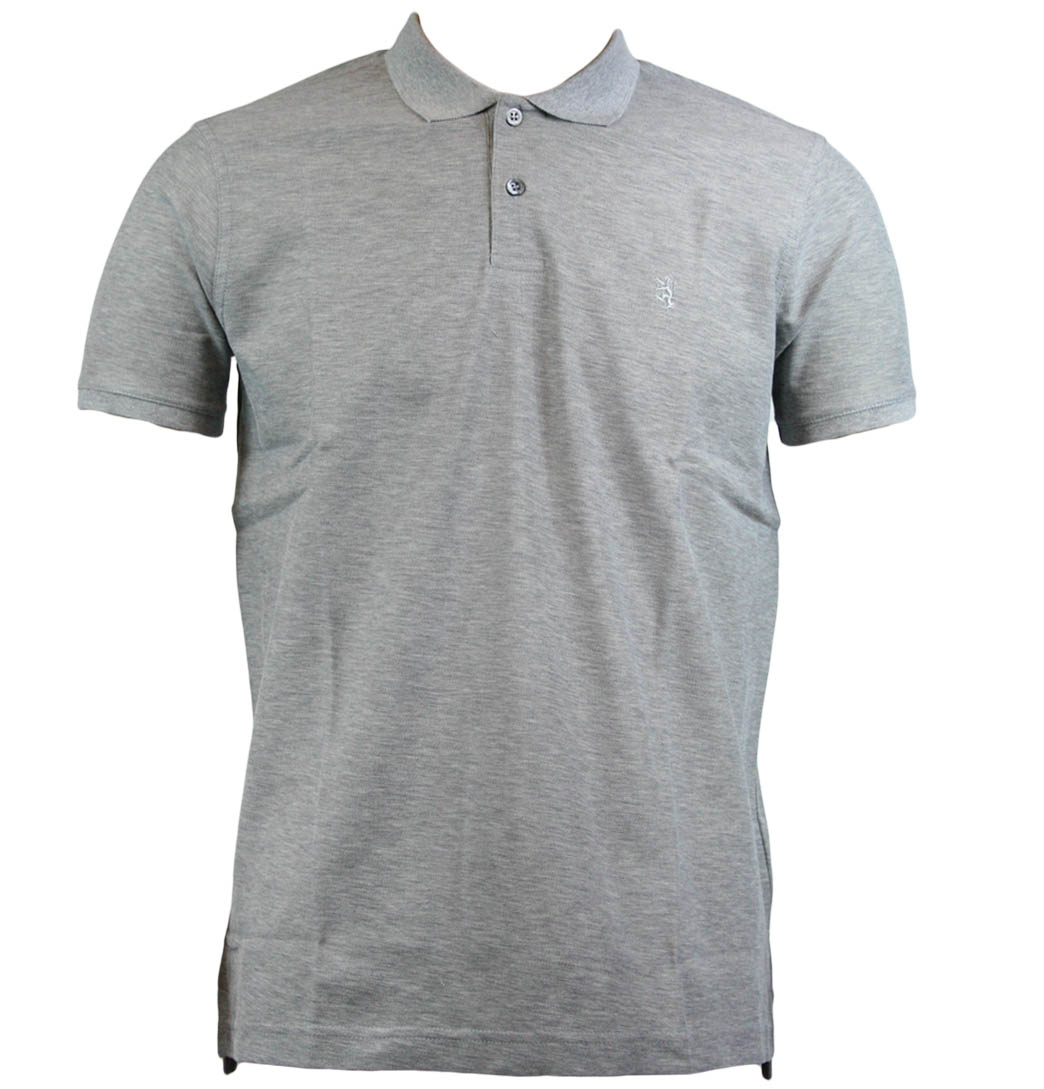 Pringle-Of-Scotland-PMC579-Reg-Polo-Shirt-Grey-Mel