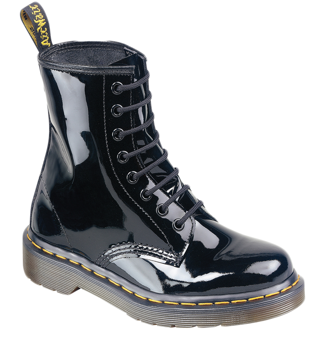 Dr Martens 1460W 11821011 Womens Boots Black Patent Lamper SS12 Enlarged Preview