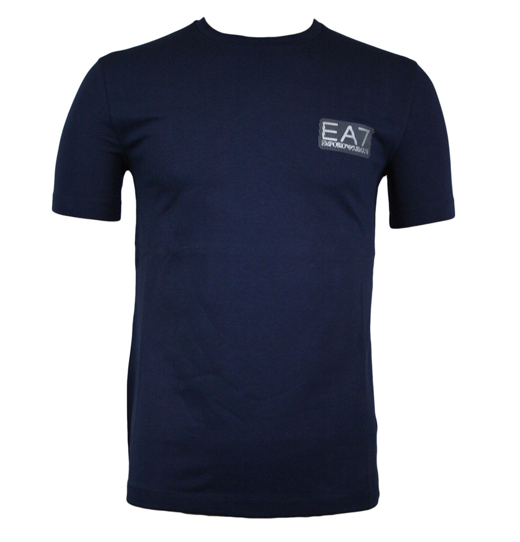 Emporio Armani EA7 273114 1W206 Mens Crew Neck T-Shirt AW11 Navy Enlarged Preview