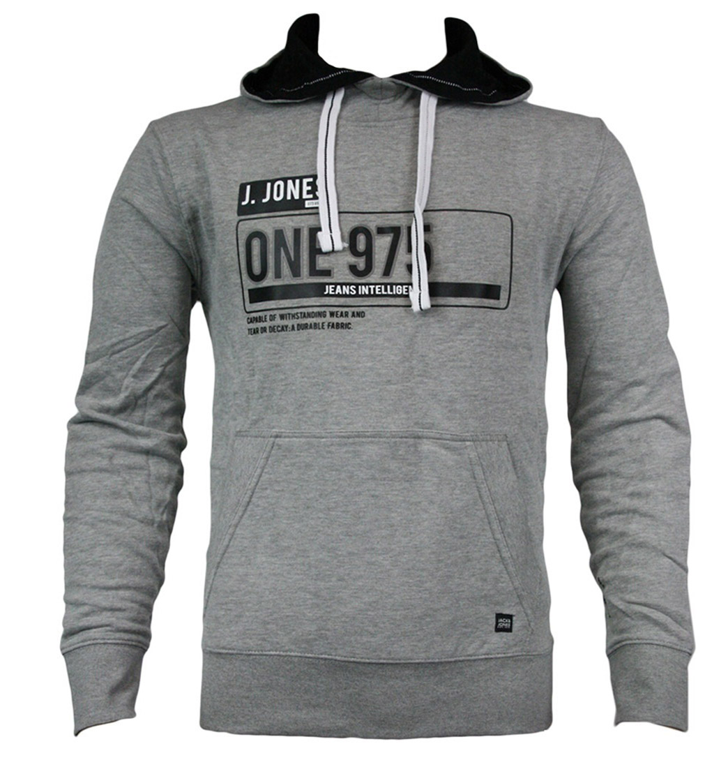 Jack & Jones Mens Chase Sweat Light Grey Melange AW11 Enlarged Preview