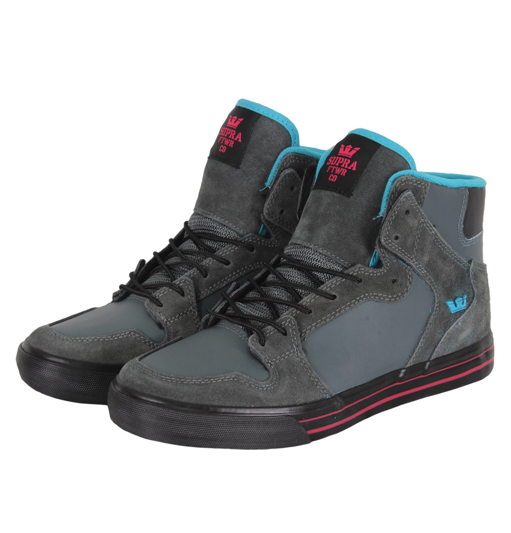 Supra Vaider S28118 Mens Hi Top Trainers SS12 Charcoal Enlarged Preview