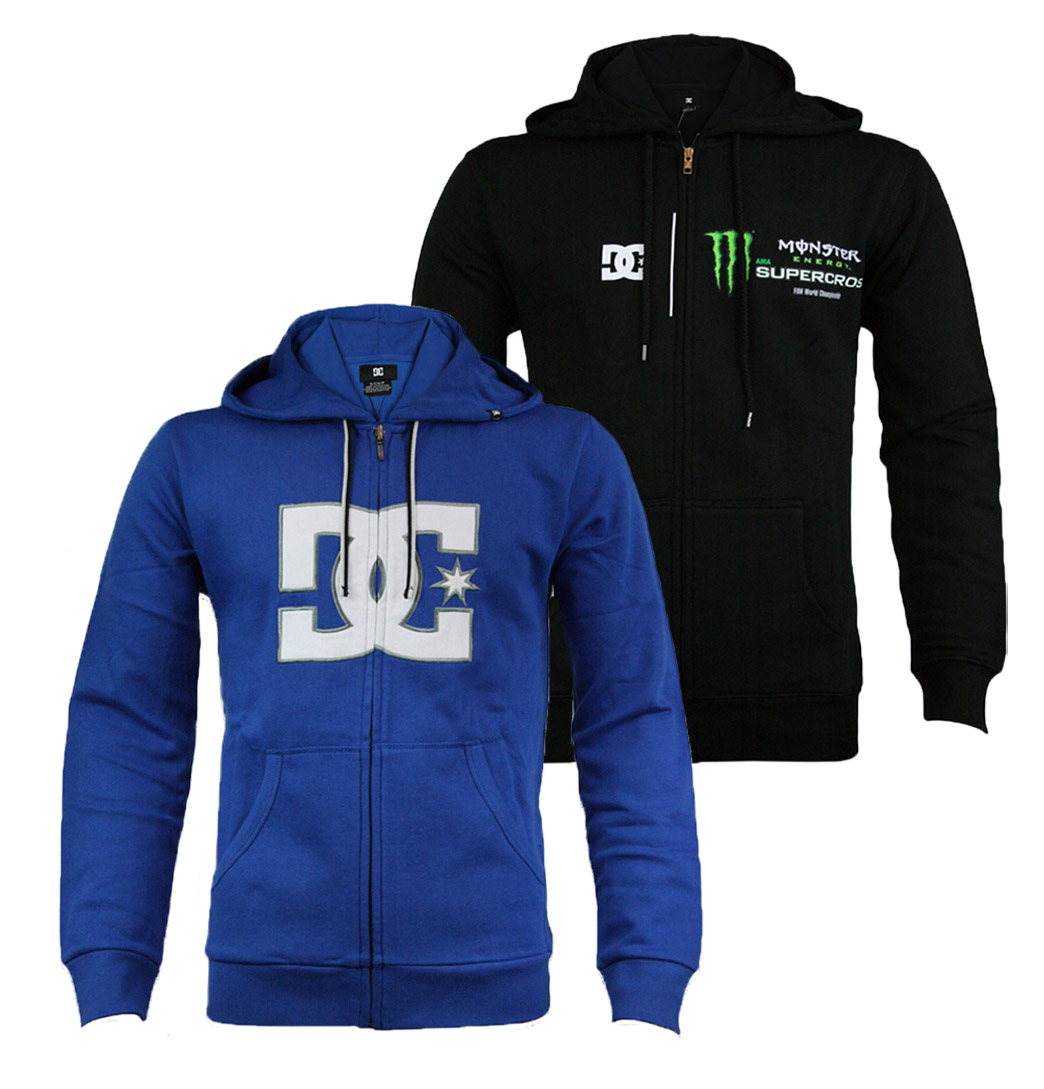 DC Shoes Supercross Black & Kowalski Olympic Blue Mens Designer Hoody Enlarged Preview