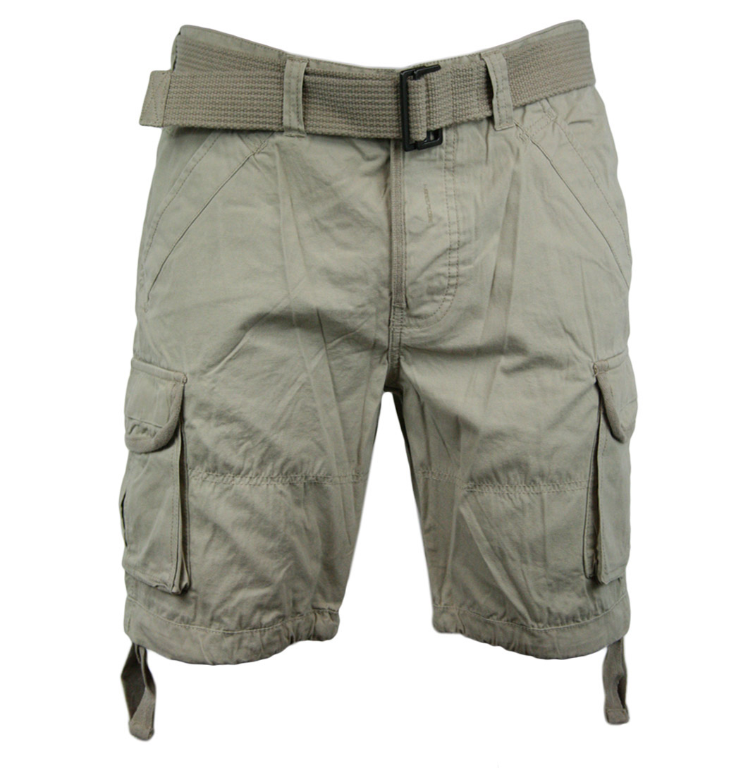 Jack-Jones-Hoffer-Mens-Designer-Cargo-Shorts-Camel-Phantom
