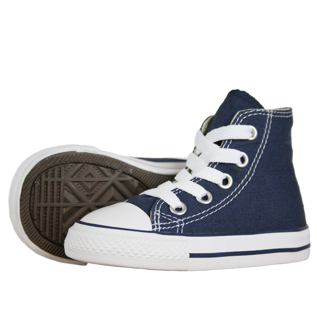 Converse CT All Star 7J233 Hi Spec Infant Trainers AW12 Navy Enlarged Preview