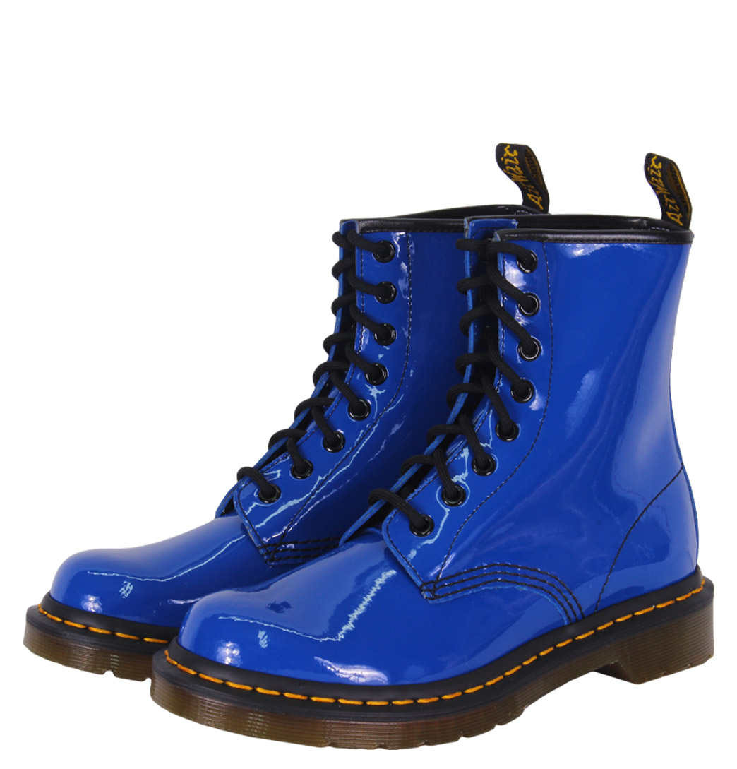Dr Martens 1460W 11821409 Womens Boots AW12 Royal Blue Patent Lamper Enlarged Preview