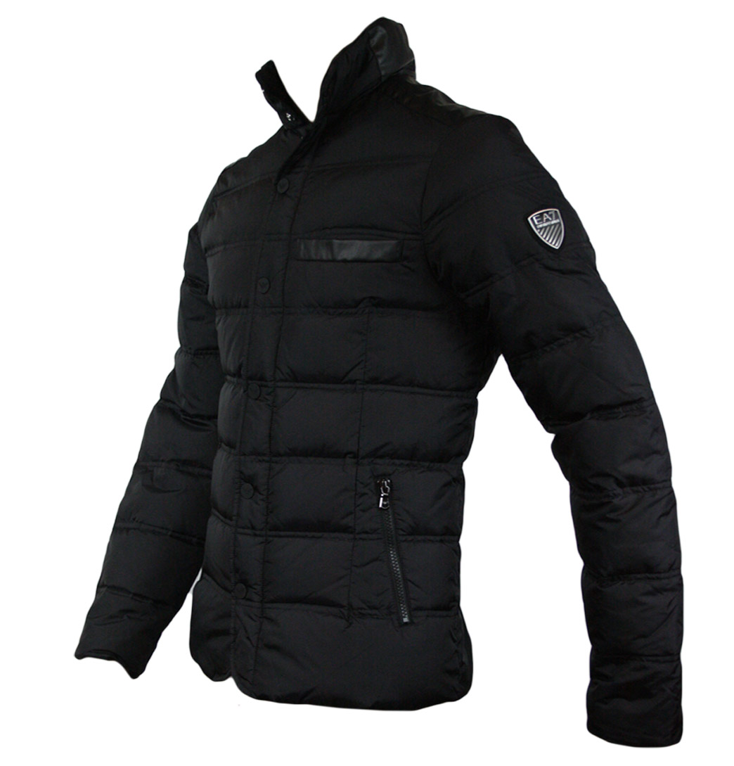 42fe2df9c380 Emporio Armani EA7 271354 2A340 Mens Down Quilted Jacket Black on ...