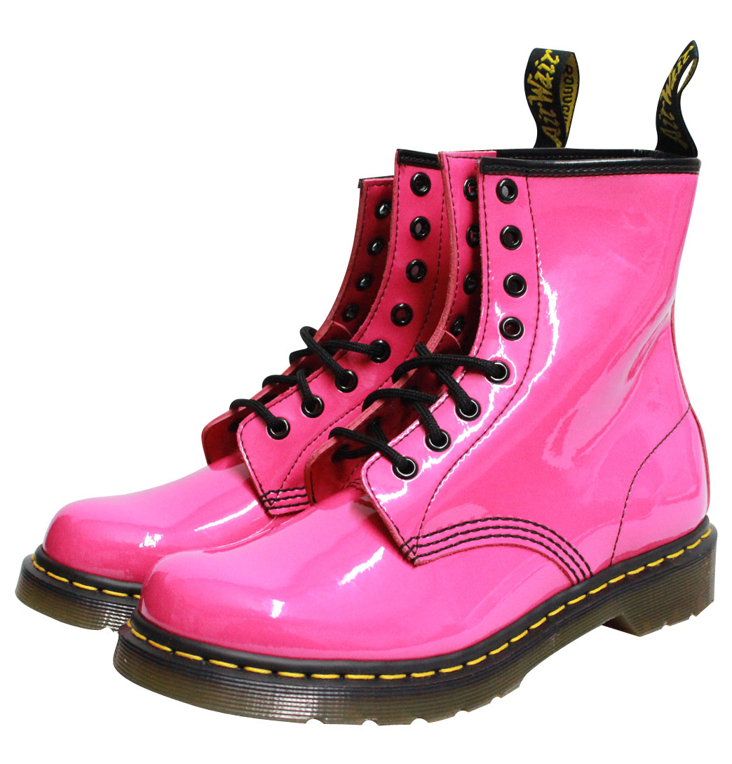 Dr Martens 1460W 11821670 Womens Boots Patent Lamper Pink Enlarged Preview