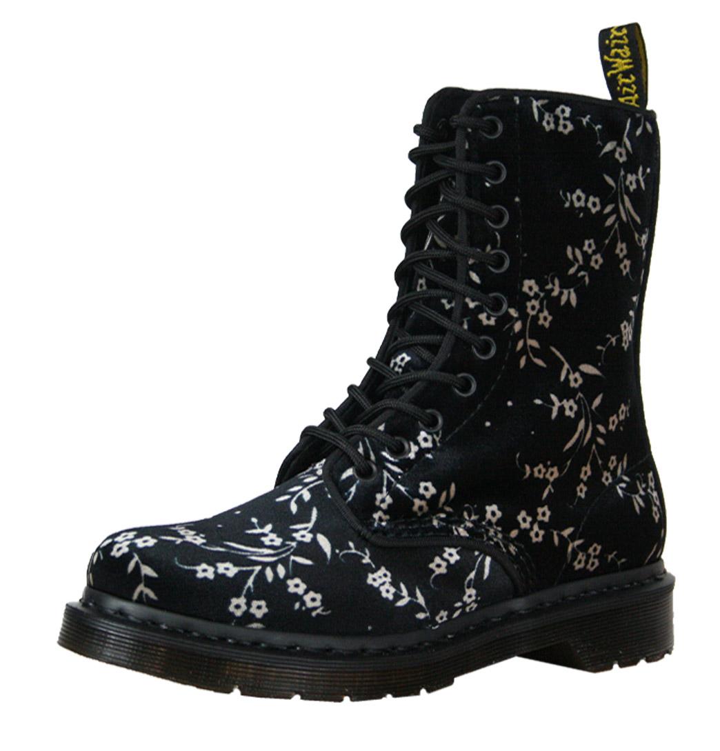 dr martens avery 14611001 womens boots aw12 black velvet ebay. Black Bedroom Furniture Sets. Home Design Ideas