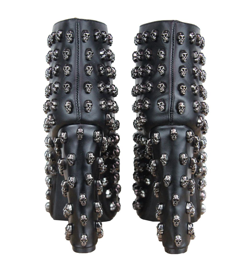 title jeffrey campbell lita skull womens platform shoes black rrp