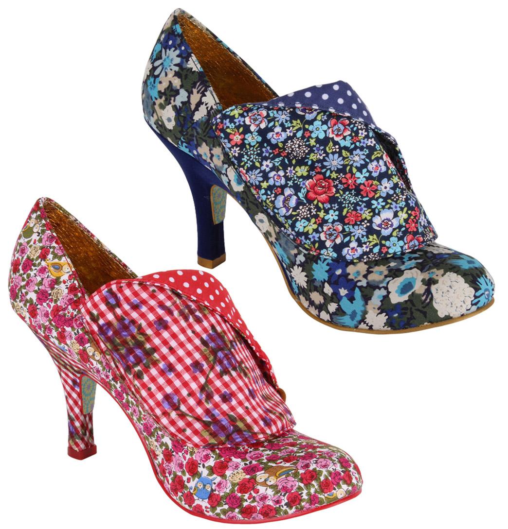 Irregular Choice Womens Designer Heels Shoes Flick Flack AW13 Red OR