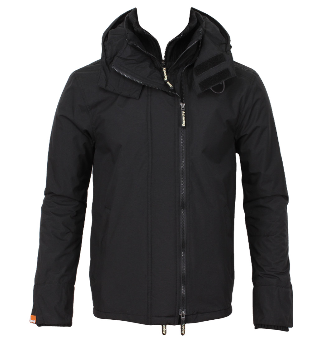Superdry MS5HZ065 Hooded Polar Mens Windcheater Black/Dark Charcoal Enlarged Preview