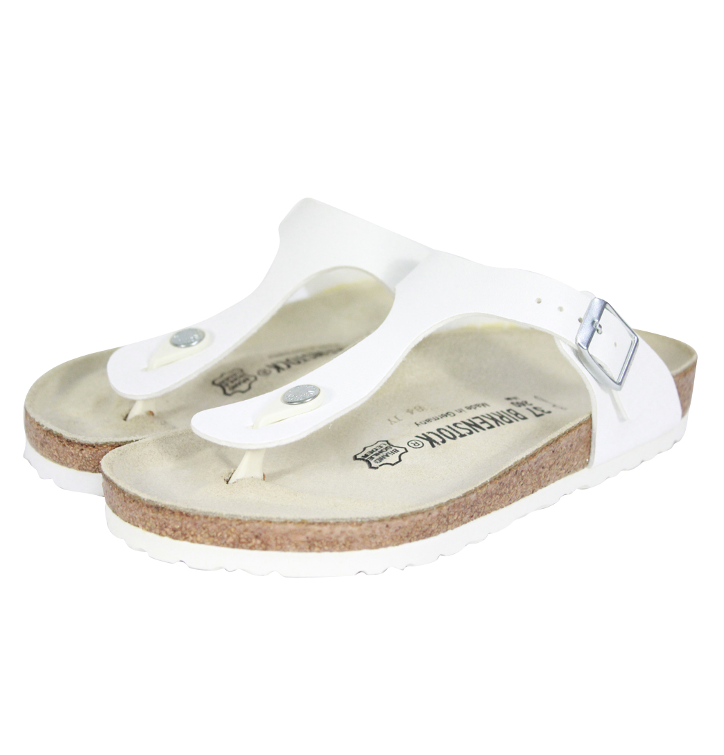 Simple Home Birkenstock Madrid Women White Patent Birko Flor Sandals