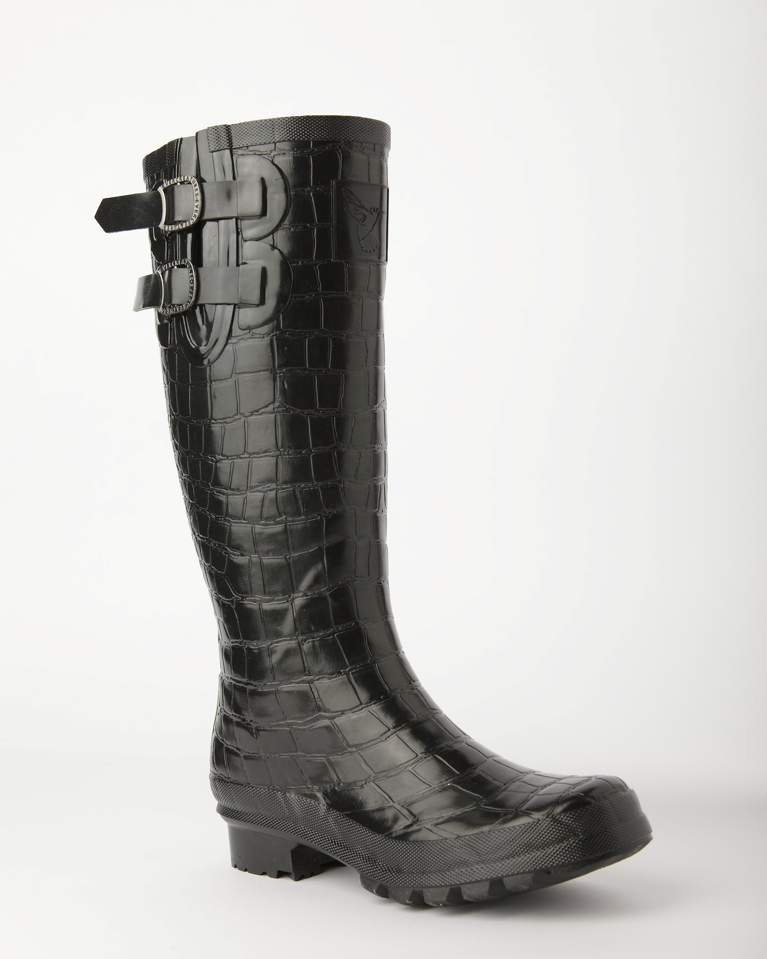EVERCREATURES NILOTICUS WELLINGTON BLACK CROC WELLINGTON NILOTICUS Stiefel 8fbc1c
