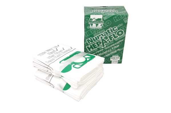 NUMATIC HENRY HEPA-FLO VACUUM BAGS X10 NVM-1CH 604015 free delivery Enlarged Preview