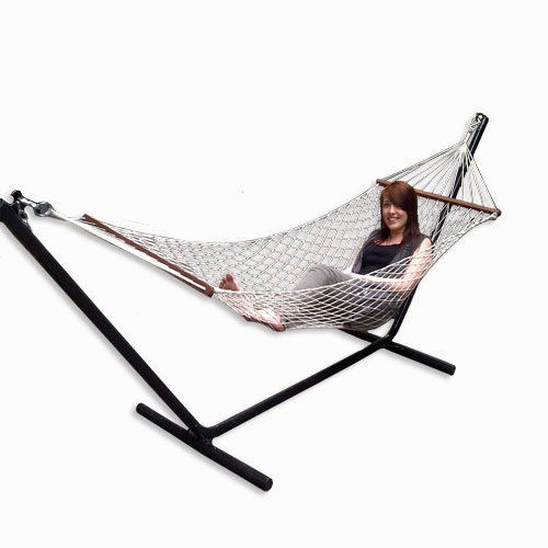 redstone garden hammock and stand lounger swing chair ebay