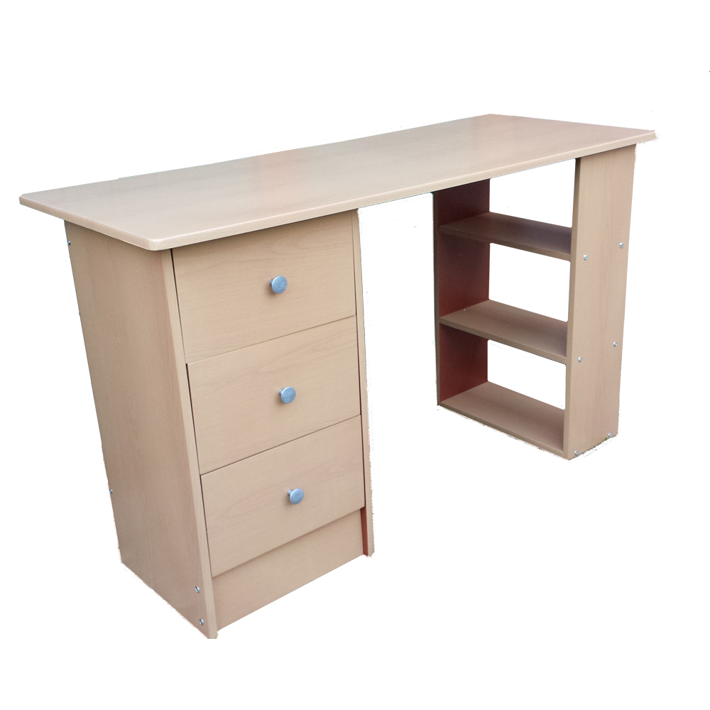 drawer computer desk black white beech or dk walnut home office
