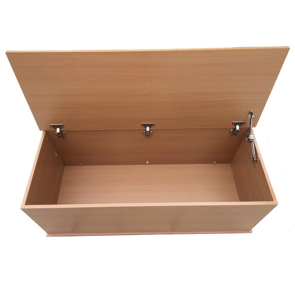 Large Wooden Ottoman Storage Chest With Lid Trunk Chest Bedding Box Ebay