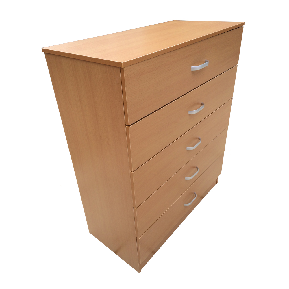 chest of drawers 5 drawer bedroom furniture black beech or white