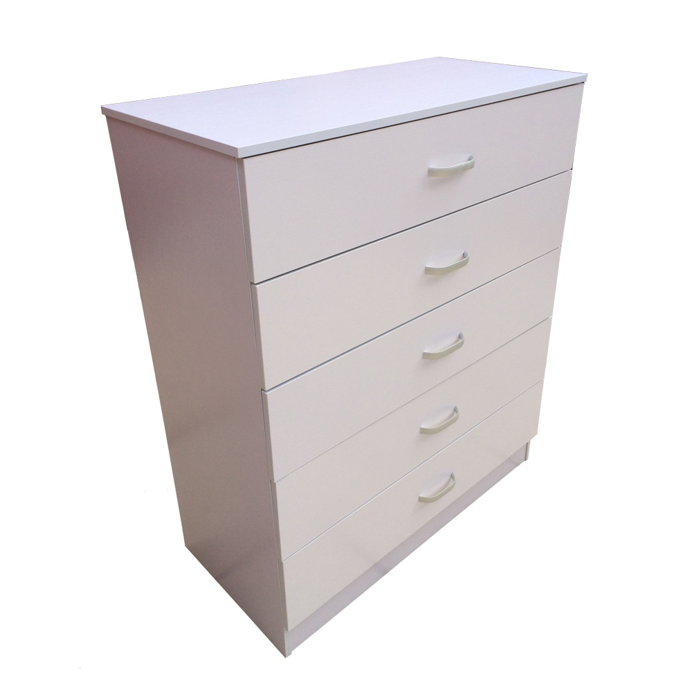 Chest of drawers 5 drawer bedroom furniture black white or beech ebay for White bedroom chest of drawers
