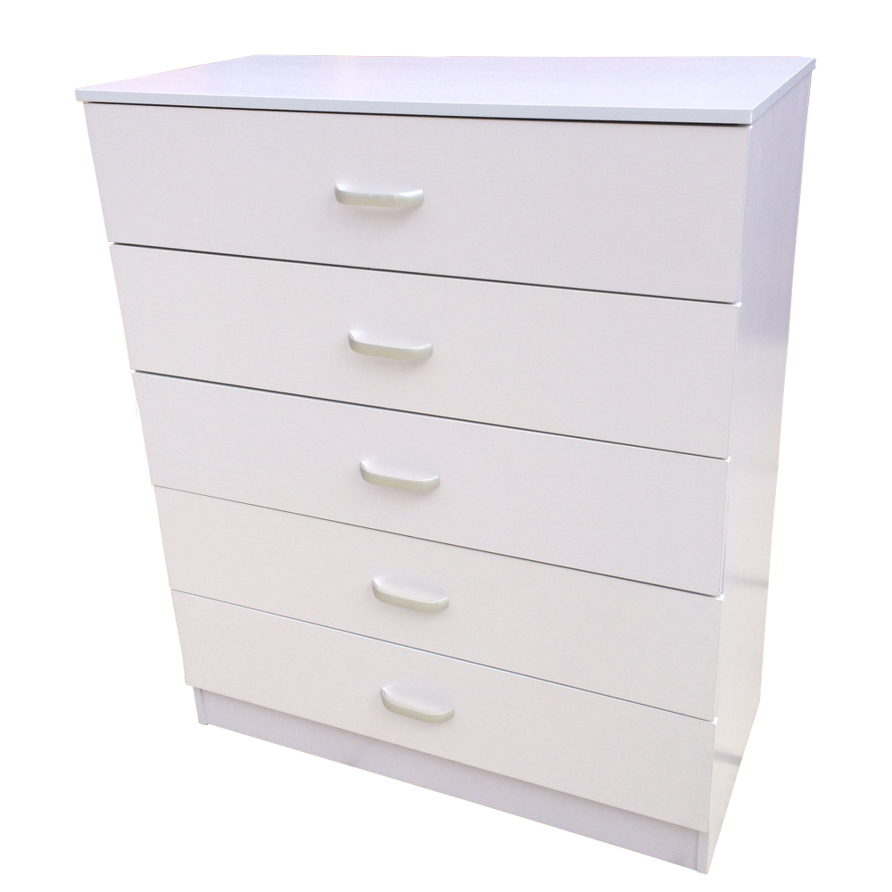 Bedroom Chests Of Drawers: Chest Of Drawers 5 Drawer Bedroom Furniture (Black, Beech