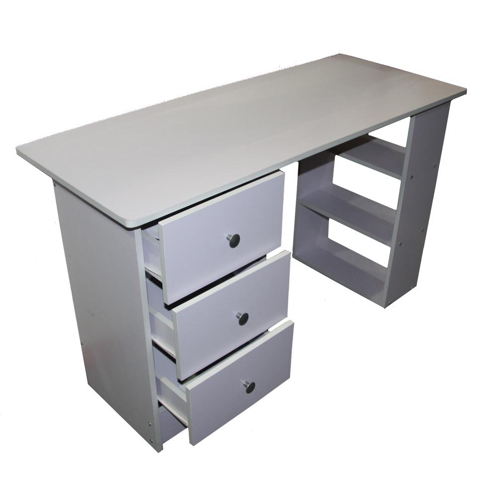 3 Drawer Computer Desk Black White Beech Or DK Walnut Home