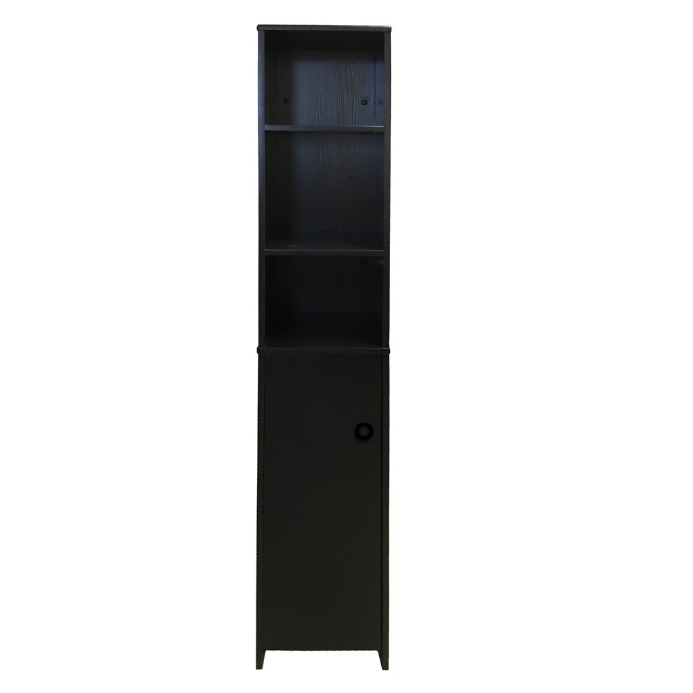 tall bathroom cabinet cupboard bedroom storage unit white black beech