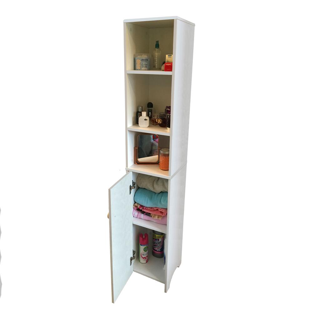 Tall Bathroom Cabinet Cupboard Bedroom Storage Unit White