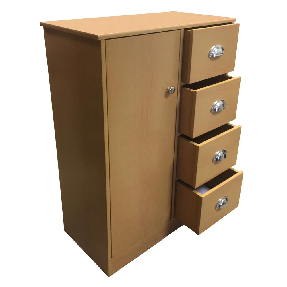 bathroom cabinet chest of drawers cupboard sideboard storage white black beech ebay. Black Bedroom Furniture Sets. Home Design Ideas