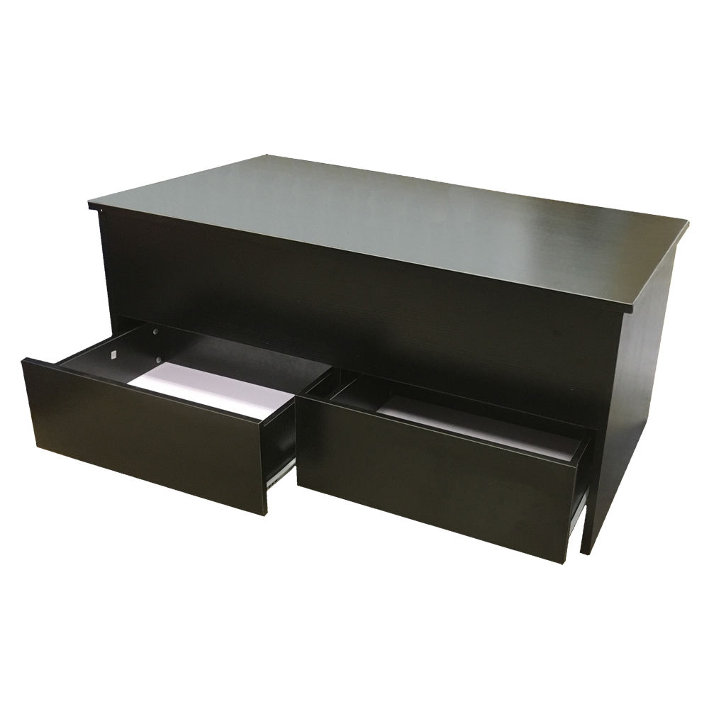 Black Coffee Table With Storage Uk: Coffee Table With Storage + 2 Drawers Ottoman Toy Box