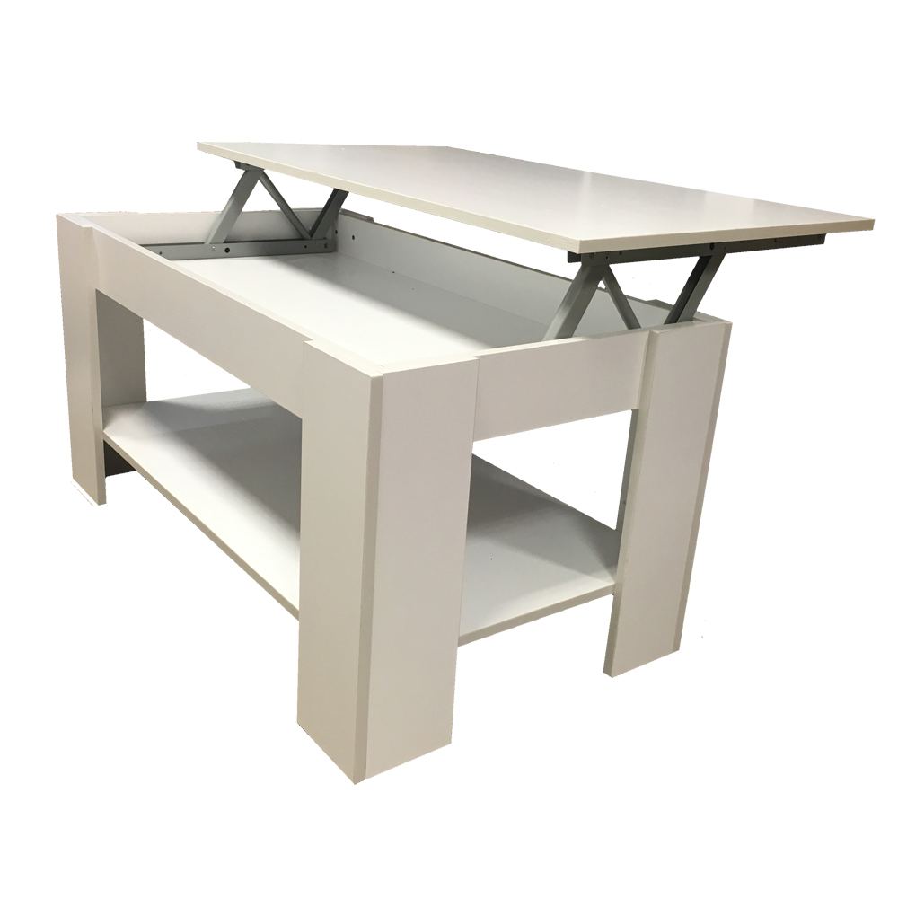 Redstone Coffee Table Lift Up Top With Storage Black White Beech Walnut Ebay
