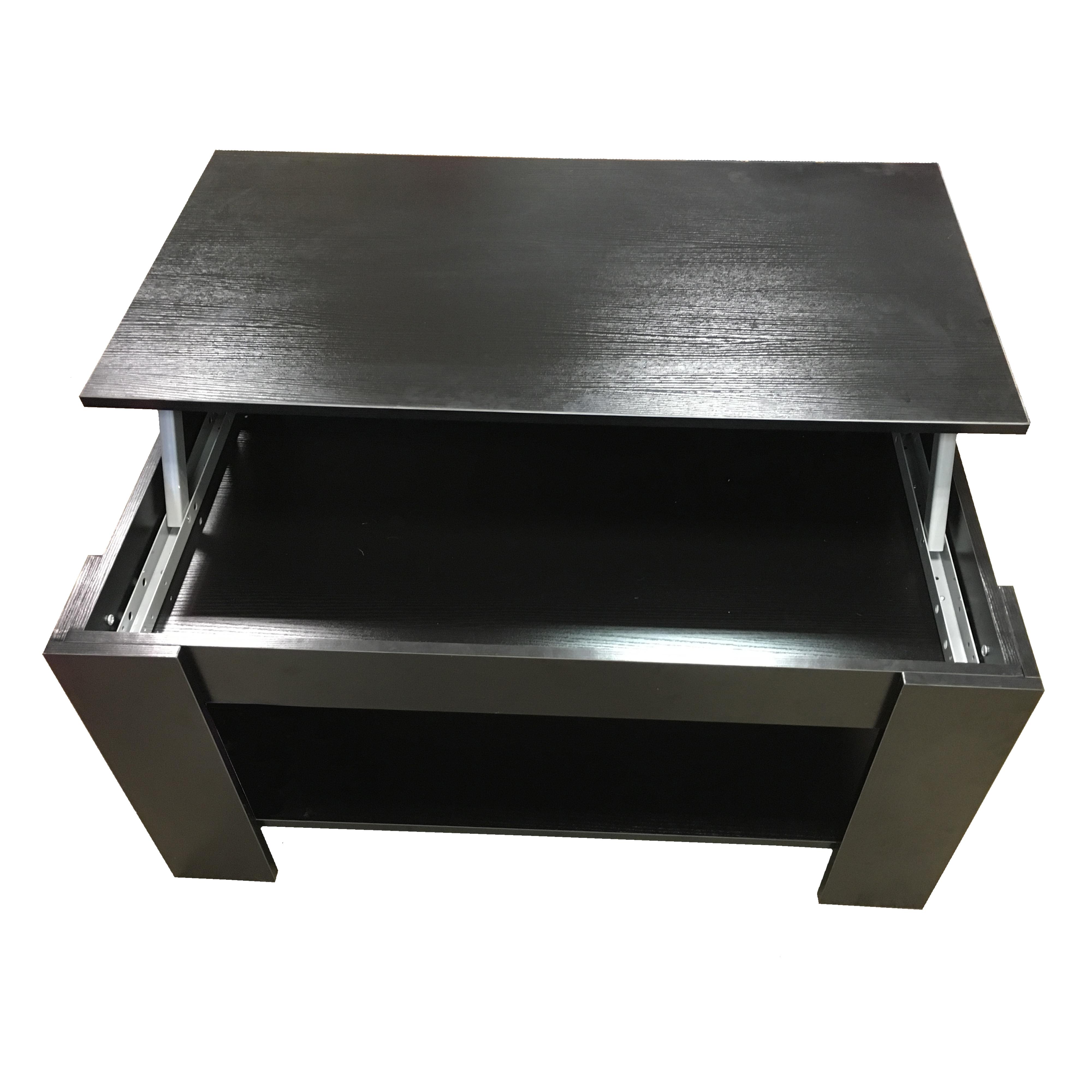 redstone couchtisch mit h henverstellbarer platte schwarz oder wei ebay. Black Bedroom Furniture Sets. Home Design Ideas