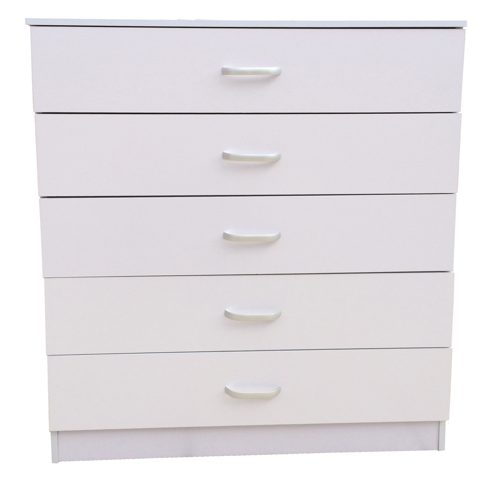 Chest Of Drawers 5 White Anti Bowing Drawer Support