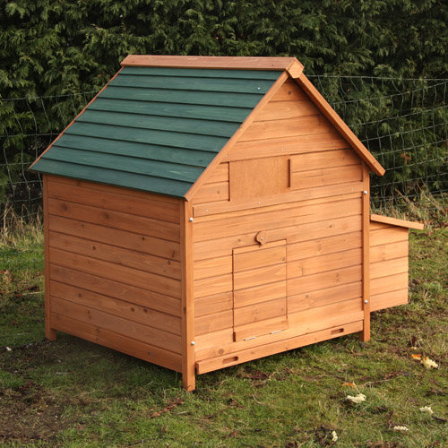 Large poultry house chicken coop hen coup garden for Large chicken house