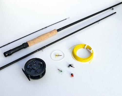 Fly fishing set boyz toys rod reel line trout starter for Fly fishing starter kit