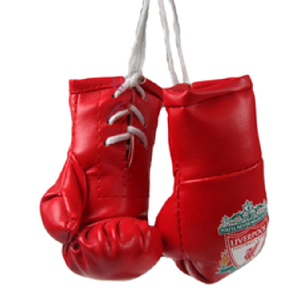 Hanging boxing gloves