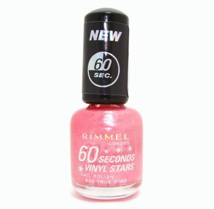 Rimmel 60 SECONDS VINYL STARS Nail Polish 635 TRUE STAR Enlarged Preview